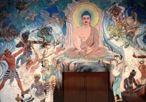 野生司香雪とサールナートの仏伝壁画