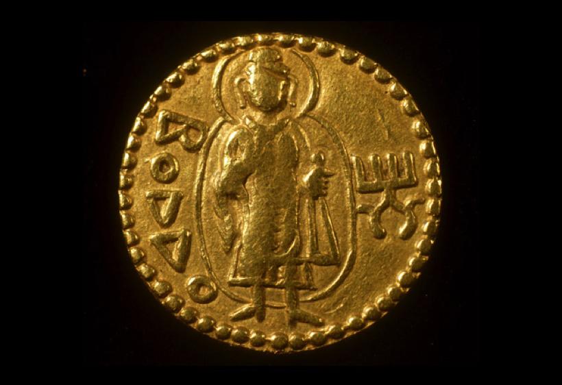 カニシカ王のコイン(大英博物館蔵)