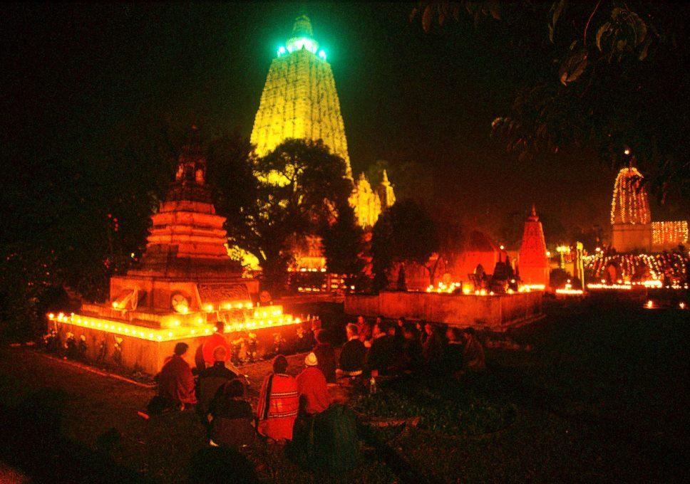 ブッダガヤ・マハーボーディ寺の年越し